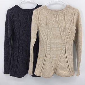 Lot of 2 PattyBoutik Pullover Sweaters Sz M
